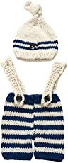 Voberry Unisex-Baby Newborn Boy Crochet Knit Costume Photo Prop Photography Prop Outfits Suitable for Baby About 0-4 Months Old Beige