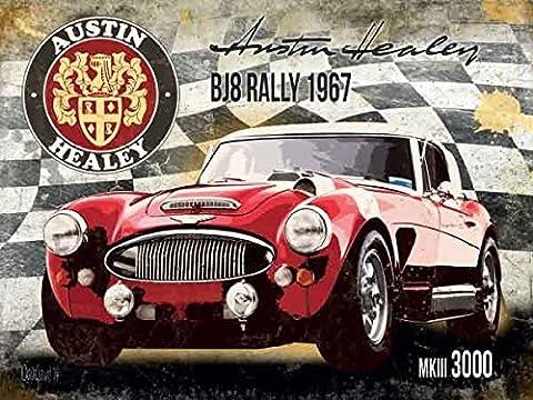 Enseigne Métal Austin-Healey MK3 3000 BJ8 Rally 1967 (og 2015)