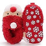 Bluelans Cute Weihnachten Style Neugeborene Baby Infant Warm Soft Antislip Vorläufer-Crib Shoes, rot, 11 cm
