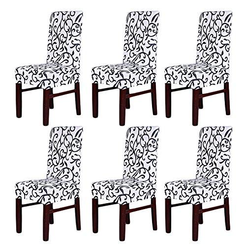 Pack 6fundas elásticas respaldo silla, lavables