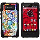 DROID Mini Case, Dual Layer Shell STRIKE Impact Kickstand Case with Unique Graphic Images for Motorola DROID Mini XT1030 (Verizon) from MINITURTLE   Includes Clear Screen Protector and Stylus Pen - Eighth Note Music Symbol