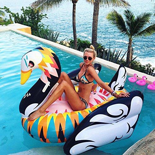 """WLZP Aufblasbare Pool Luftmatratze, Riesige Schwäne Float Spielzeug Doppelventil Garantiert Eine Enge Verdickung, Foto Props Aufblasbarer Float Spielzeug für Mann / Frau 59 X 55 X 43,3"""""""