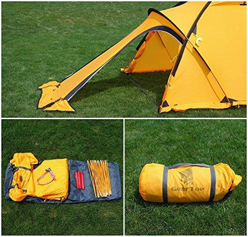 GEERTOP 20D 2-Person 4-Jahreszeiten Super Leicht Alpine Camping-Zelt - 4