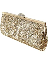 Amazon.co.uk: Gold - Clutches / Women's Handbags: Shoes & Bags