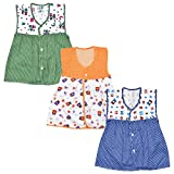 #10: Luke and Lilly Baby Girls Cotton Frock Pack of 3