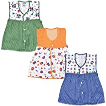 Luke and Lilly Baby Girls Cotton Frock - Pack of 3