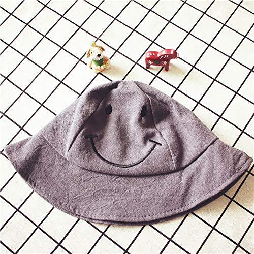 mlpnko Baby Hut Männer und Frauen Baby Visier Sonnenhut Smiley Becken Hut Strand Küste Fischer Hut grau - Smiley Baby Kostüm