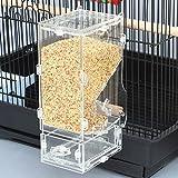 Keine Unordnung Futterhaus Parrot integrierter Futterautomat mit Sitzstange Käfig Zubehör für Wellensittich Kanarischen Finch Sittiche Nymphensittiche Samen Food Container
