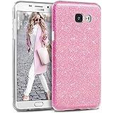 Coque Samsung Galaxy A5 (2016), TheBlingZ.® housse étui de protection [Hybrid Case] Etui de couverture Bling Bling avec brillants en TPU - Rose