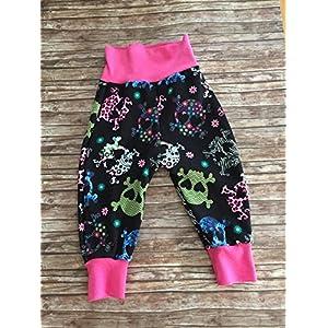 Baby-Hose Pumphose Skulls Totenköpfe rosa-grau Gr. 92-104 Mädchen Schlupfhose