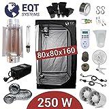 Growbox Komplettset 250 Watt HPS Cooltube Protube 80x80x160 cm - Vorschaltgerät ETI 2