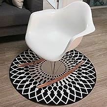 KYDJ FIOFE/ simple moda nórdicos alfombra, tienda de ropa cámara alfombra redonda, salón dormitorio estudio Silla de ordenador, colgando del cojín acolchado ( Tamaño : 120cm , Style : # 1 )