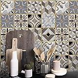JY ART ZYX Fliesenaufkleber Dekorative Wandgestaltung mit Fliesenaufklebern für Küche und Bad, Deko-Fliesenfolie für Küche u. Grau Dekoration CZ071, 20cm*100cm*5pcs