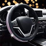 Steering Wheel Cover Bling - ZATOOTO Rhinestone Steering Wheel Covers for Women, Pink