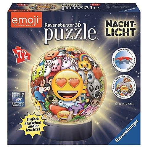 emoji puzzle Ravensburger - 3D Puzzleball: Nachtlicht Emoji 72 Teile .