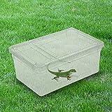TAONMEISU™ Boîte pour Reptile Terrarium Habitat en Plastique Transparent