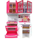 FunnyTool Kitchen Play Set Toddler Pretend Play Kitchen Kit, Kitchen Play Set Toy for Girl ( Multi Color and Model)