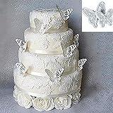 TININNA 2 Stück Kunststoff Schmetterling Ausstecher Kuchenschneider Kuchenform Keksform Pralinenformen Fondant Schneidgeräte