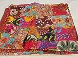 Tribal Asian Textiles Handmade Puro Cotone copriletto Queen Size Quilt Kantha Stitch Kantha Quilt Indiano copriletto Reversibile copriletto Quilt 25
