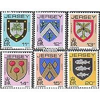 Regno Unito-Jersey 264-269 (completa.Problema.) 1981 Crest (Francobolli )