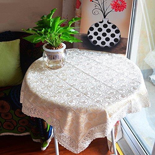 Simple petite nappe carrée ronde meuble tv maquillage réfrigérateur couvrir de serviettes lace couvercle de dépoussiérage -A 120x120cm(47x47inch)