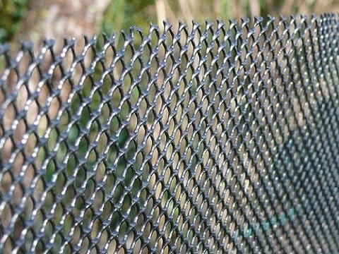 Windbreak Mesh Screen Fencing 1m x 30m Plastic Netting Fence Black Hexagonal 8x6mm Holes - Reduce Wind Speed, animal plant protection privacy