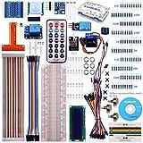 Pour Raspberry Pi 3, Kit De Démarrage Kuman K71 , Avec Un Ecran LCD, Fils De Raccordement, Télécommande GPIO Servomoteur, Detecteur De Temperature et D'Humidité , Barometre BMP180,Module De Conversion 8 Niveaux, Transformateur Analogique-NU