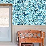 Xshuai 20 cm * 500 cm 1 Rolle selbstklebende abnehmbare wasserdichte Fliese Kunst Wand Aufkleber Aufkleber DIY Küche Bad Dekor Vinyl (Multi Typ A / B / C / D) (B)