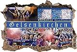 Ultras Gelsenkirchen, 3D Wandsticker Format: 92x62cm,
