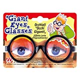 Große Augen Brille Nerd Spaßbrille Lupenbrille Scherzartikel Dicke Gläser Doktorbrille Riesenaugen Faschingsbrille Doktor Scherzbrille