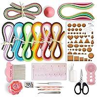 Juya Paper Quilling Kits avec 960 bandes et 13 Outils Rose Outils, papier Largeur 3mm