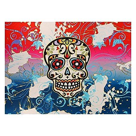 TAOtTAO Tapestry Halloween Skull Bone Wall Hanging Bedspread Beach Sun Canopy Towel Mat Blanket Table Cover Up Textiles Room Dorm Home Decor 150 *
