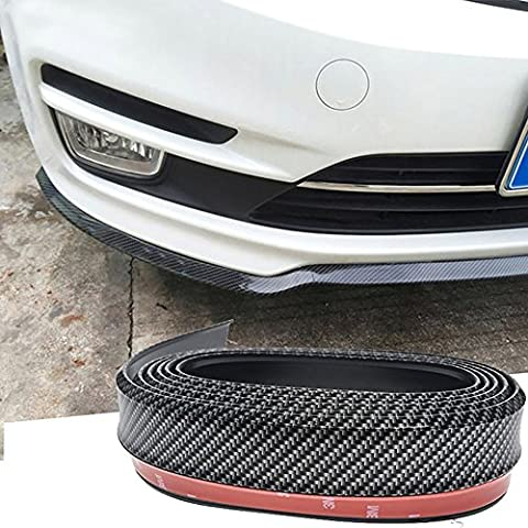 Carbon Fibre Car Front Bumper - Seametal Universal Car Front Lip Car Protection Decoration Anti-scratch with 3M Adehesive Flexible and Durable Material with Carbon Fiber Cover Up Existing Damage