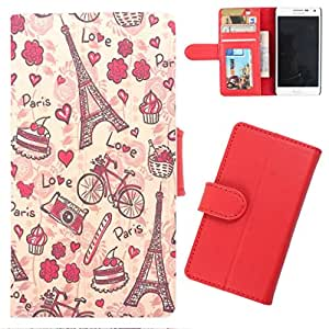 DooDa - For Micromax Bolt A51 PU Leather Designer Fashionable Fancy Wallet Flip Case Cover Pouch With Card, ID & Cash Slots And Smooth Inner Velvet With Strong Magnetic Lock