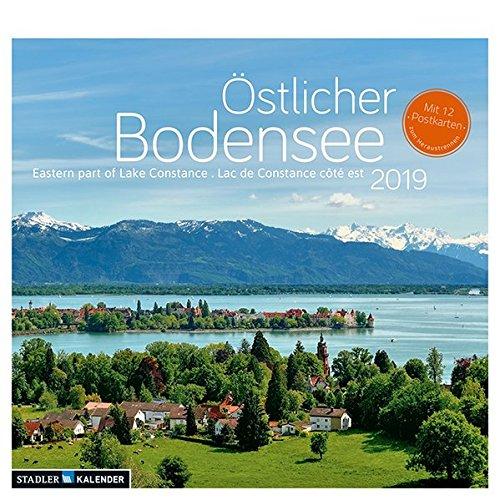 Östlicher Bodensee 2019. Postkarten-Tischkalender