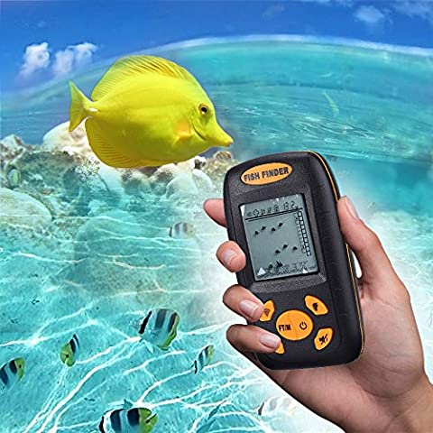 INLIFE Protable Depth Fish Finder Wireless Sonar Fishfinder,Kayak Fish Finders 100M/328Ft Suitable for Kayak fishing, Boat, Ice Fishing and Bank Fishing