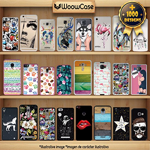 iPhone 7 Plus Hülle, WoowCase® [Hybrid] Handyhülle PC + Silikon für [ iPhone 7 Plus ] Husky-Hunde Sammlung Tier Designs Handytasche Handy Cover Case Schutzhülle - Transparent Housse Gel iPhone 7 Plus Transparent D0448