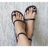 Toe Ring Sandals, Leather Sandals, Boho Sandals, Strappy Sandals, Greek Sandals, Women Sandals, Handmade Sandals…