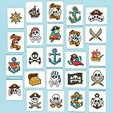 Calcomanías de pirata para niños -Relleno de Piñata Bolsa de Fiesta (pack de 24)