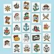 Lot de 24 Tatouages Pirates - Idéal pour les costumes de Pirates