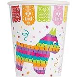 Unique Party 58686 - Gobelets en Carton - 266 ml - Fête à thème Fiesta Mexicaine - Paquet de 8