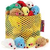 chiwava 2410,4cm Furry Katzenspielzeug Mäuse Lovely Kleine Maus Kätzchen Interaktives Spielen Verschiedene Farben