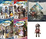 Super 4 - DVD/Folge 1-4 + Piratin Figur im Set - Deutsche Originalware [4 DVDs]