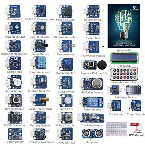 sunfounder-ultimate-sensor-kit-for-arduino-uno-r3-mega2560-mega328-nano-including-98-page-instructio