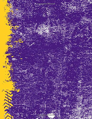 Purple And Gold: (8.5 x 11 Lined) Blank Grunge Team Color Notebook College Ruled por Belle Journals