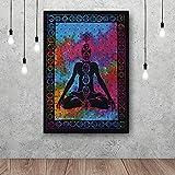 l'art Box Multi Poster 76,2x 101,6cm Tapisserie Poster Petite Affiche Hippie Indien