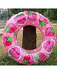 Los niños más gruesos cristal de doble fresa piscina PVC anillo de asiento inflable bajo el círculo del anillo de brazo