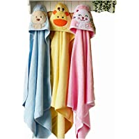 Brandonn Premium Hooded Blanket Cum Wrapping Sheet for Babies (Multicolor, 3 Pieces, 26inchx29inch)