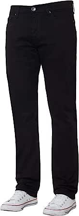 Enzo Mens Classic Straight Leg Stretch Jeans Basic Work Denim Pants All Waist Sizes
