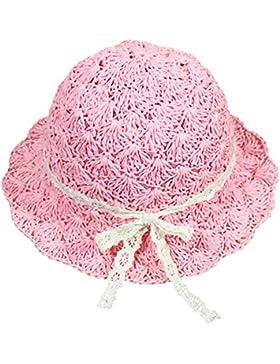 Vococal - Cappello Sole Berretto Parasole Cappelli di Paglia Cap Grande Tesa di Hollow Spiaggia per Bambini Neonati